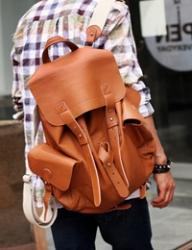 läder modern ryggsäck mode