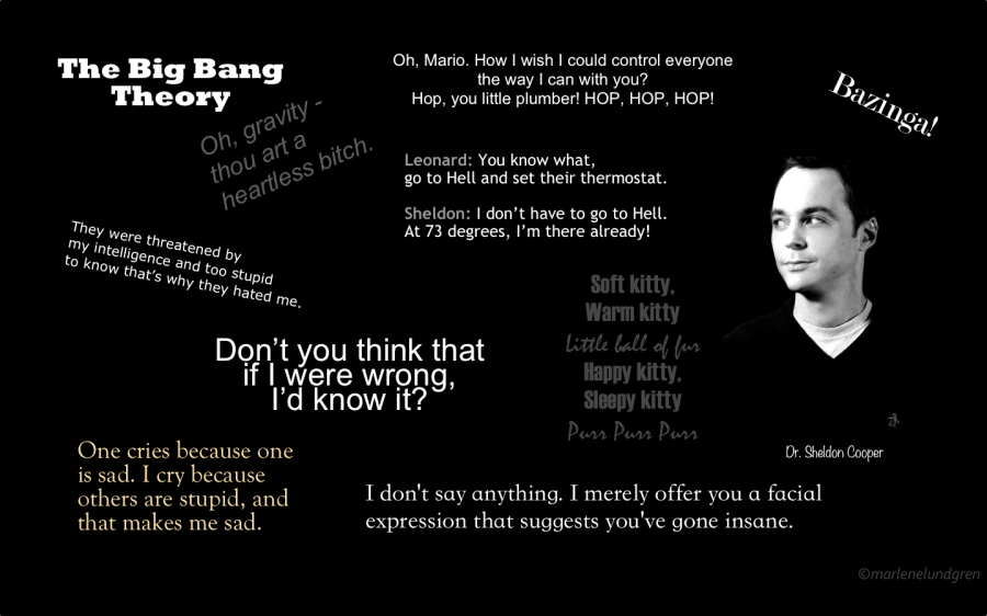 The Big Bang Theory - Sheldon Cooper Quotes copyright marlene