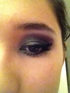 lila make-up nyår, festsminkning, party makeup purple romantic black.jpg