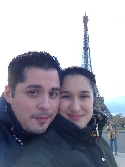 Eiffeltornet, marlene och C i Paris, njuter av livet, weekend trip to Paris.jpg