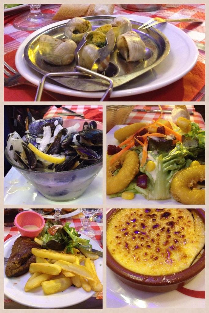 middag i Paris, Latinkvarteren, musslor, sniglar.jpg